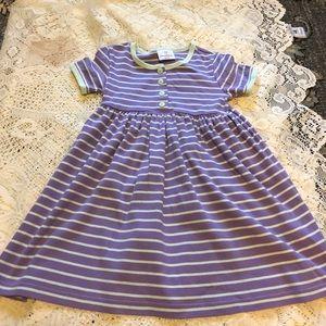 Hanna Andersson striped cotton dress Sz 5 110 EEUC